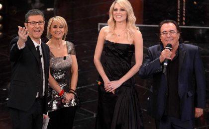 Sanremo 2013: Al Bano e Laura Chiatti duettano sulle note di 'Felicità'