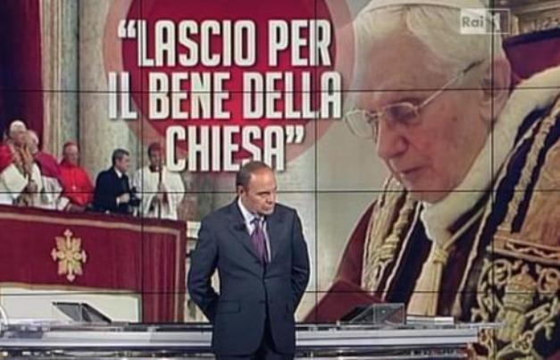 Ascolti tv lunedì 11 febbraio 2013: Giù al Nord batte Porta a Porta su dimissioni del Papa