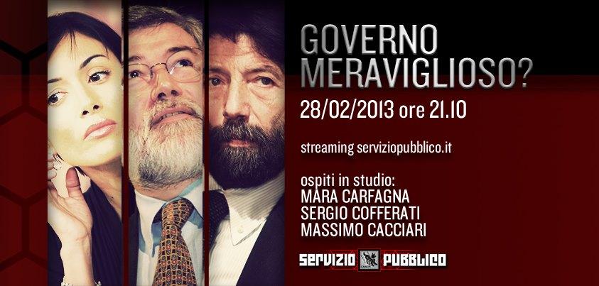 Servizio Pubblico: Mara Carfagna ospite di Santoro nella quindicesima puntata