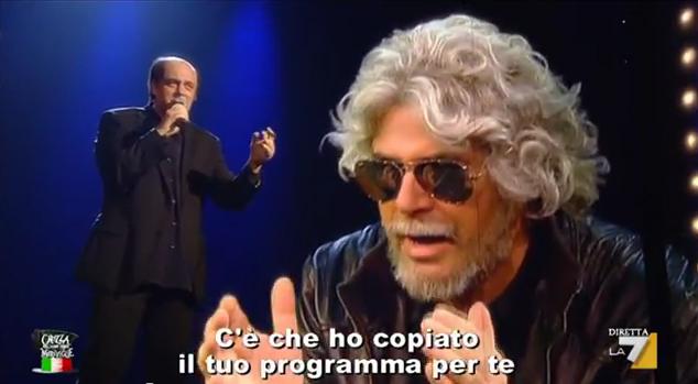 Crozza nel Paese delle Meraviglie (8/3/2013): Bersani corteggia Grillo [VIDEO]