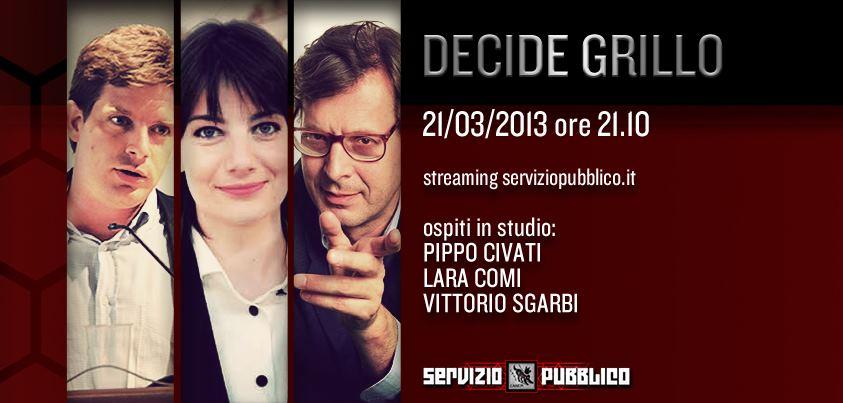 Servizio Pubblico: Vittorio Sgarbi ospite di Michele Santoro nella diciottesima puntata
