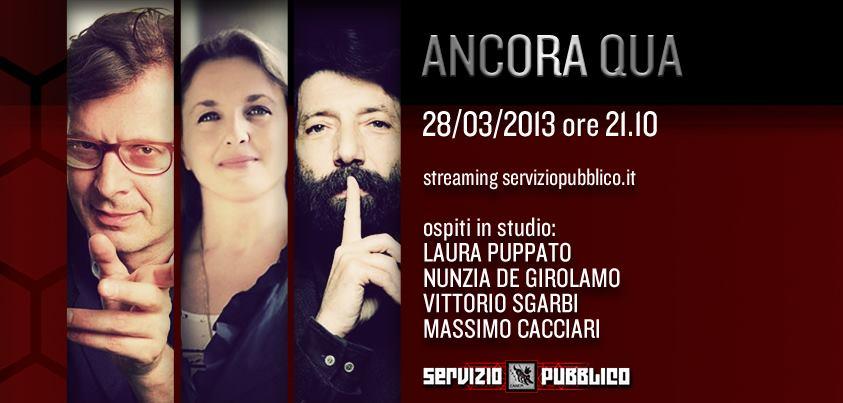 Servizio Pubblico: Santoro ospita Sgarbi nella diciannovesima puntata
