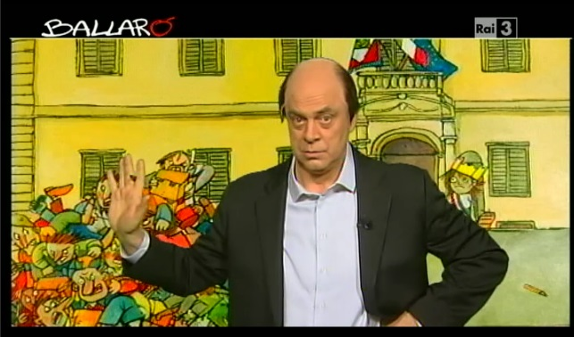 Crozza a Ballarò fa Bersani 'l'autogol': 'Can che abbaia piano per non disturbare i vicini'