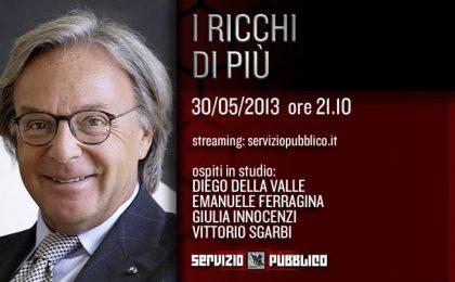 Servizio Pubblico: Diego Della Valle e Vittorio Sgarbi tra gli ospiti dell'ultima puntata