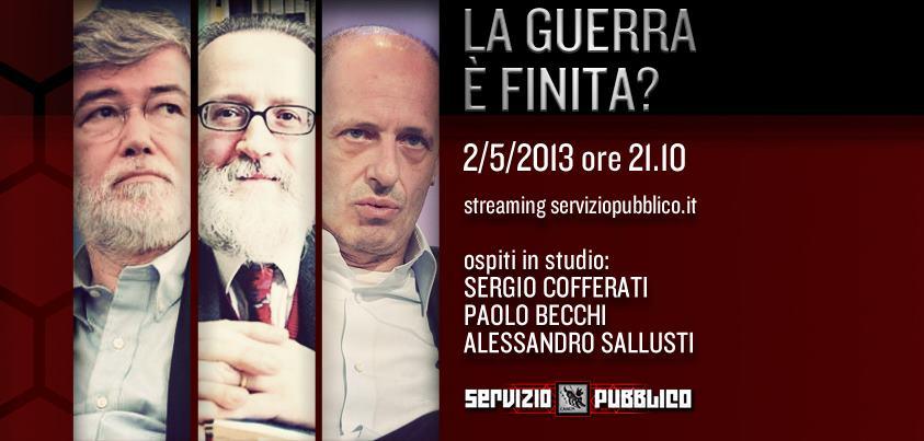 Servizio Pubblico: Sallusti e Cofferati ospiti del talk show di La7
