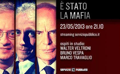 Servizio Pubblico: Bruno Vespa e Walter Veltroni ospiti di Santoro