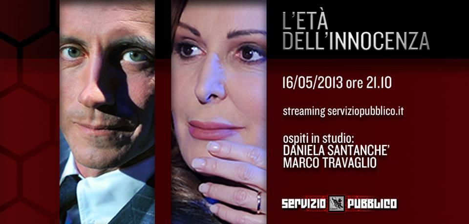 Servizio Pubblico: Marco Travaglio e Daniela Santanché a confronto da Santoro