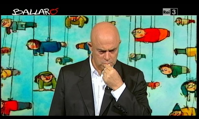 Crozza a Ballarò (24/09/2013): dal Za'Papa' alla faccia di cool del Pd