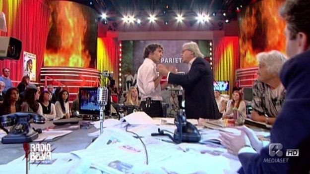 Radio Belva sospeso: Sgarbi e Alba Parietti hanno fatto pace