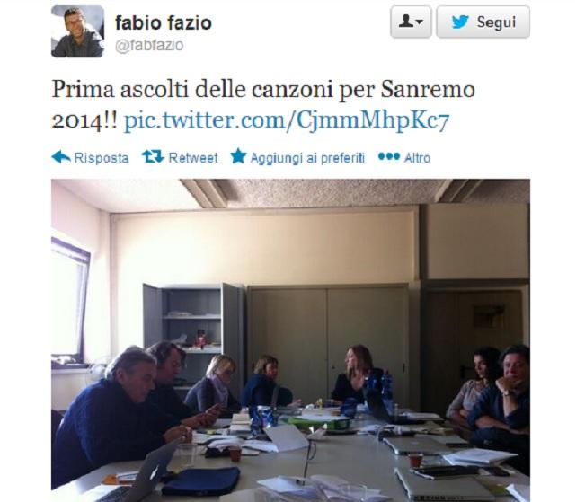 Fazio, Sanremo