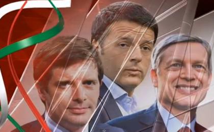Primarie Pd: su SkyTg24 il confronto tra Cuperlo, Renzi e Civati