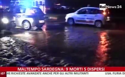 Maltempo in Sardegna morti e dispersi: Twitter si indigna all'assenza della Tv