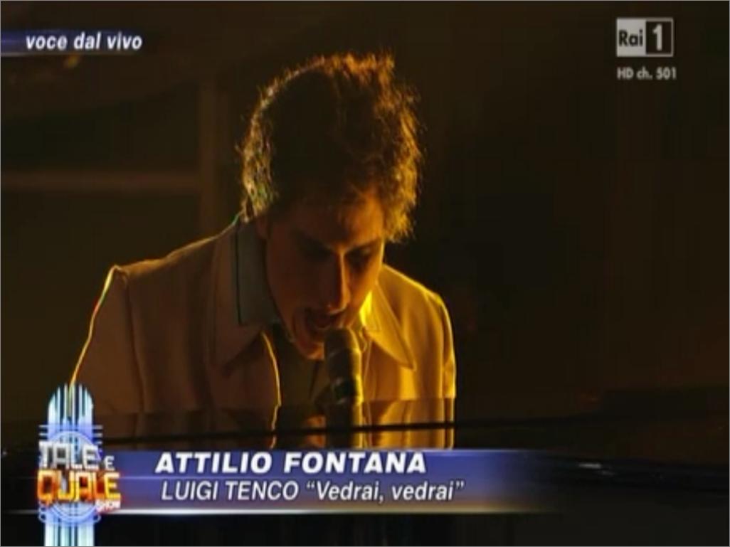 Attilio Fontanta tale e quale a Luigi Tenco