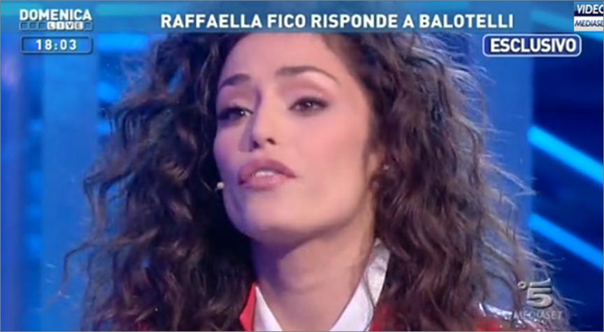 Domenica Live: l'esclusiva-sfogo di Raffaella Fico e la replica a Mario Balotelli