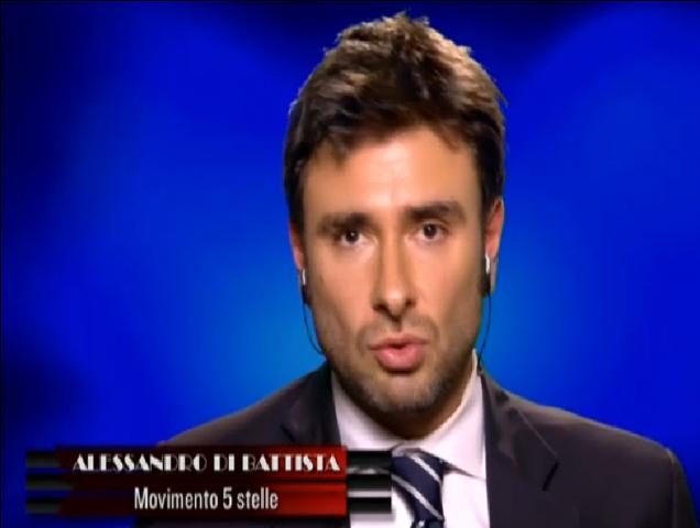 Servizio Pubblico: Alessandro Di Battista, 'bello' a Cinque Stelle da Santoro [Video]
