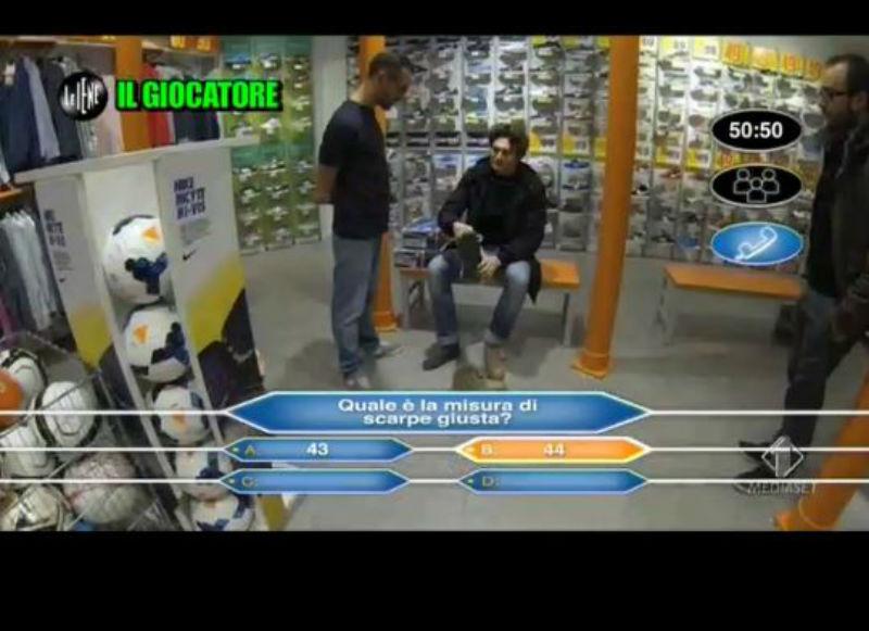 Le Iene 29_01_14 Milionario scarpe