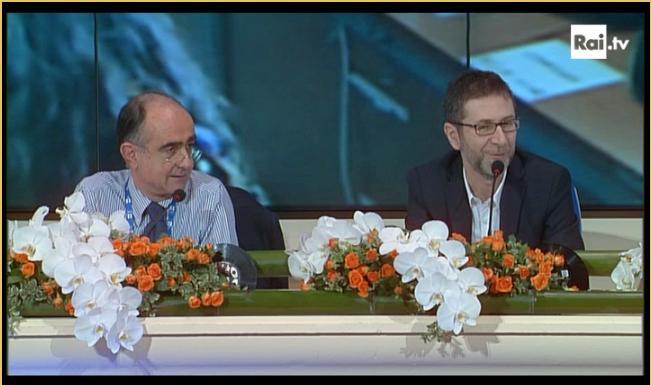 Conferenza stampa live terza serata Fazio Leone