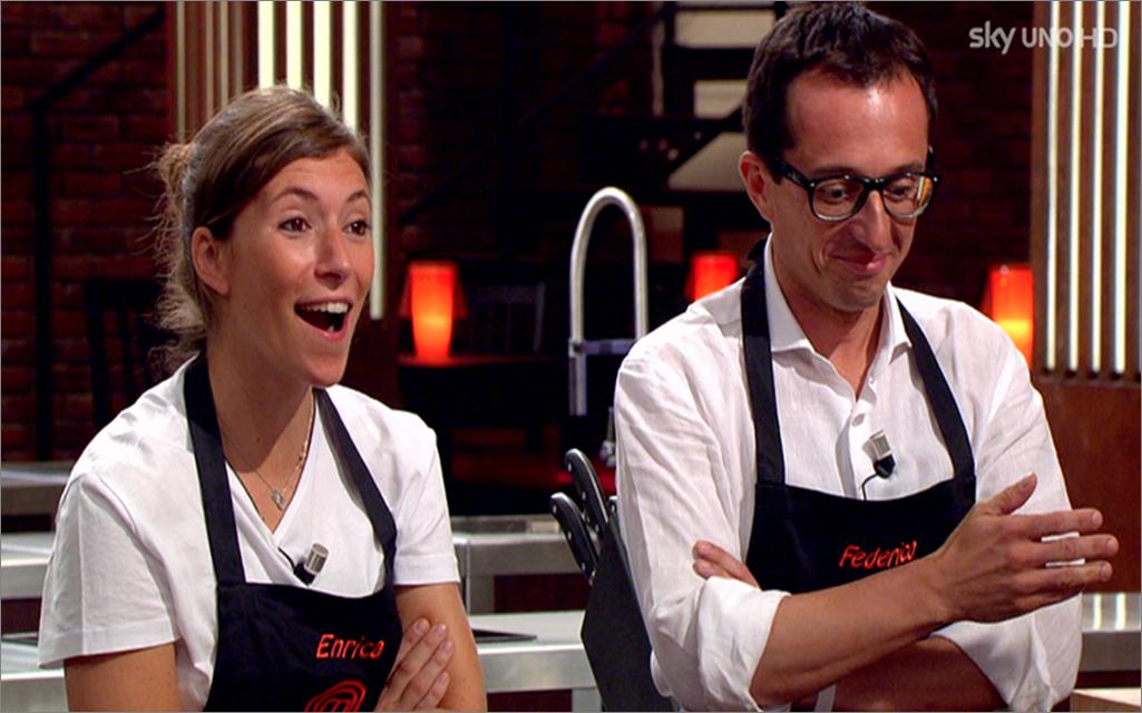 Enrica e Federico al Pressure Test   MasterChef