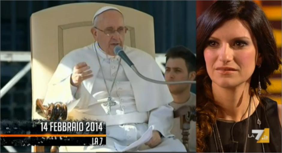 Laura Pausini e Papa Francesco