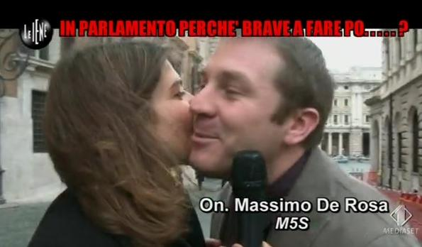 Le Iene 05.02.14 De Rosa_DeputatoBacio