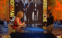 Barbara D'Urso a Le Invasioni Barbariche del 31 gennaio 2014