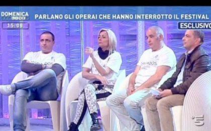 Domenica Live, Barbara D'Urso intervista gli operai di Sanremo 2014