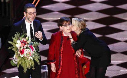 Festival di Sanremo 2014: Franca Valeri commuove l'Ariston con la sua forza