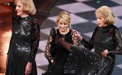 Sanremo 2014, le gemelle Kessler alle prese con la Littizzetto