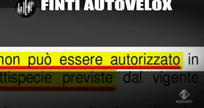 Le Iene 12032014 Finti autovelox 02