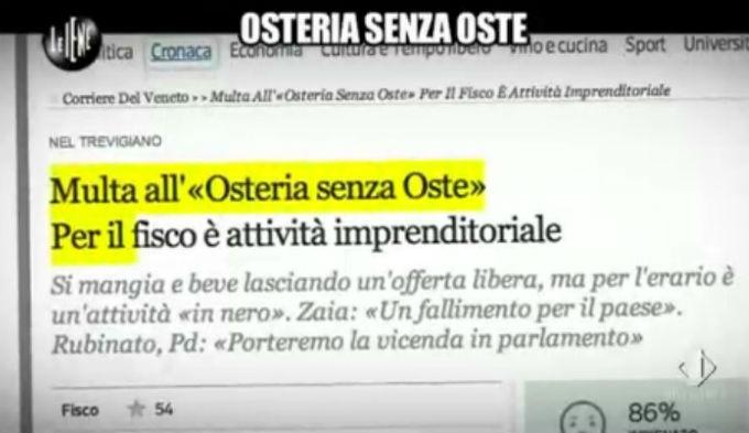 Le Iene 12032014 Osteria 04
