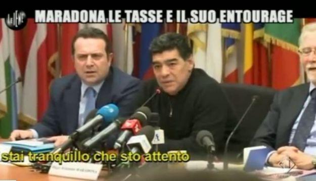 Le Iene 260214 Fisco Maradona Conferenza 04