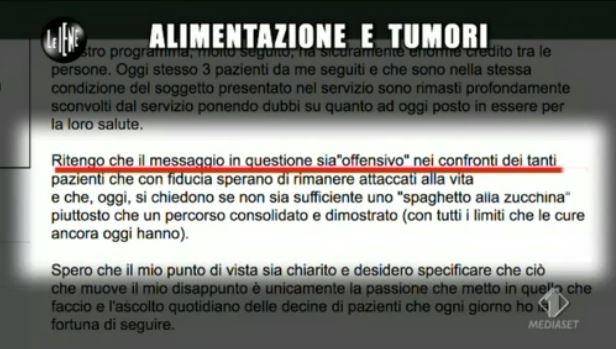 Le Iene 260314 tumore scomparso 4
