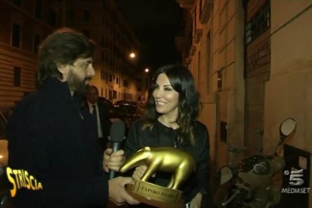 Tapiro d'oro a Sabrina Ferilli per l'esclusione dagli Oscar, lei: 'Lo meritava la produzione'