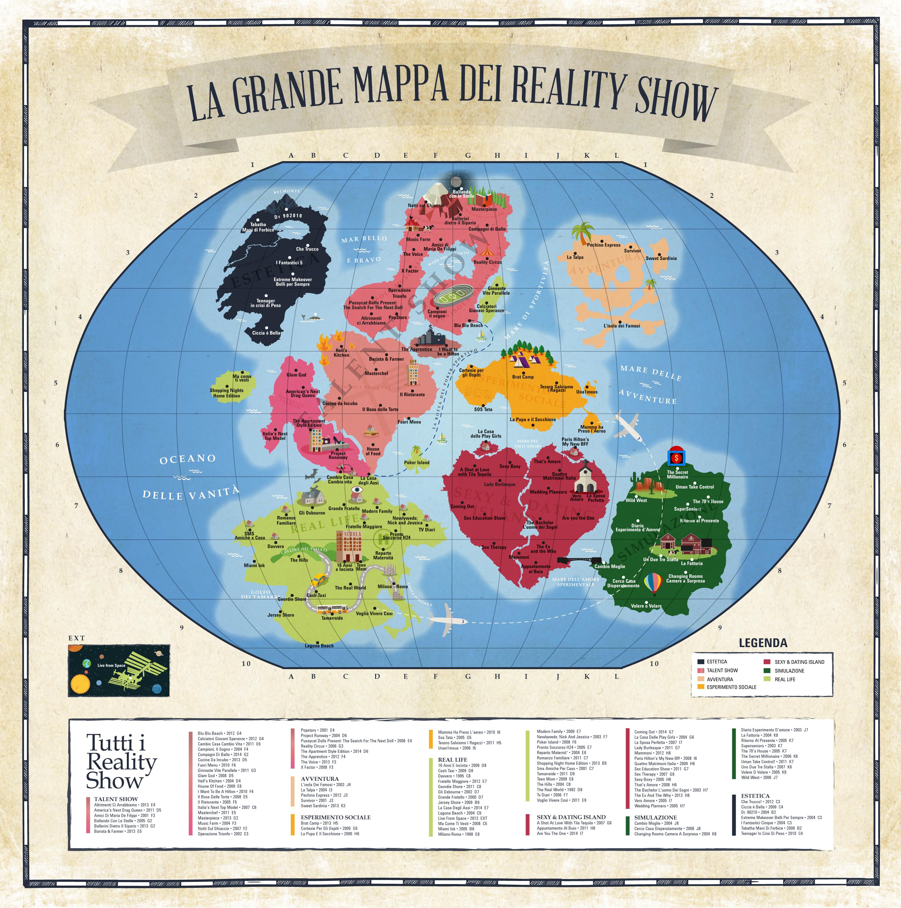 Dal Grande Fratello a La Casa degli Assi: la grande mappa dei reality show