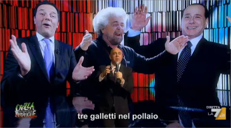 Grillo Berlusconi Renzi