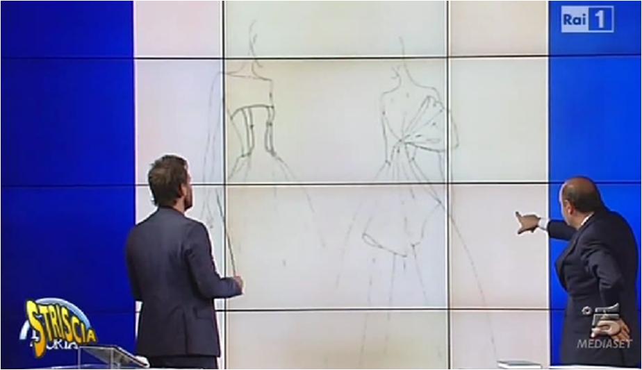 Bruno Vespa commenta il presunto bozzetto dell'abito