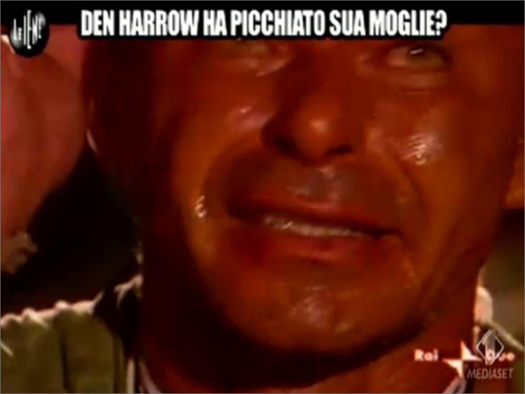 Den Harrow ha picchiato la moglie