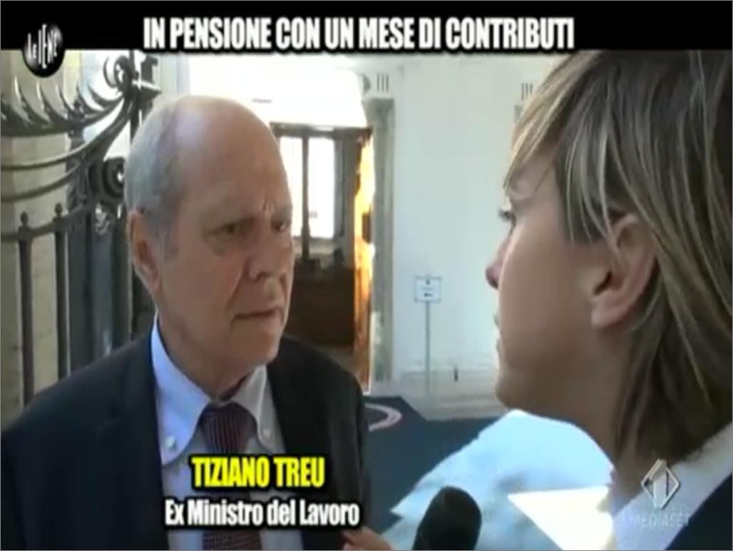 Nadia Toffa intervista Tiziano Treu a Le Iene