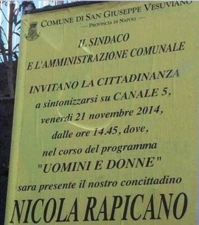 Nicola Uomini e Donne Over Poster