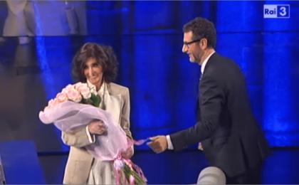 Che tempo che fa: Anna Marchesini da Fabio Fazio malata ma non molla