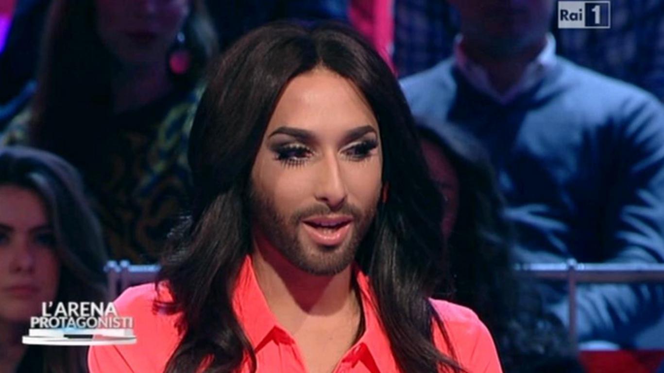 Conchita Wurst a Sanremo 2015? 'Magari', ha detto ospite a L'Arena su Rai 1