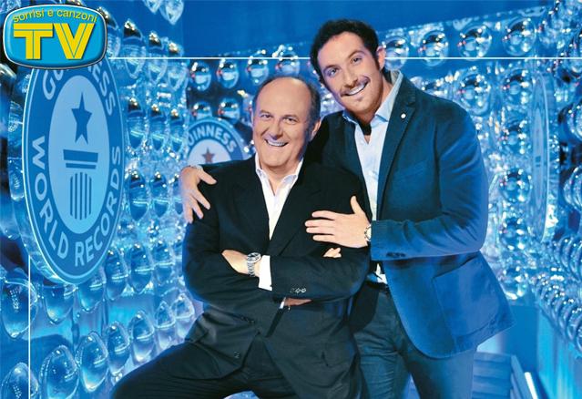 Gerry Scotti e il figlio Edoardo in copertina