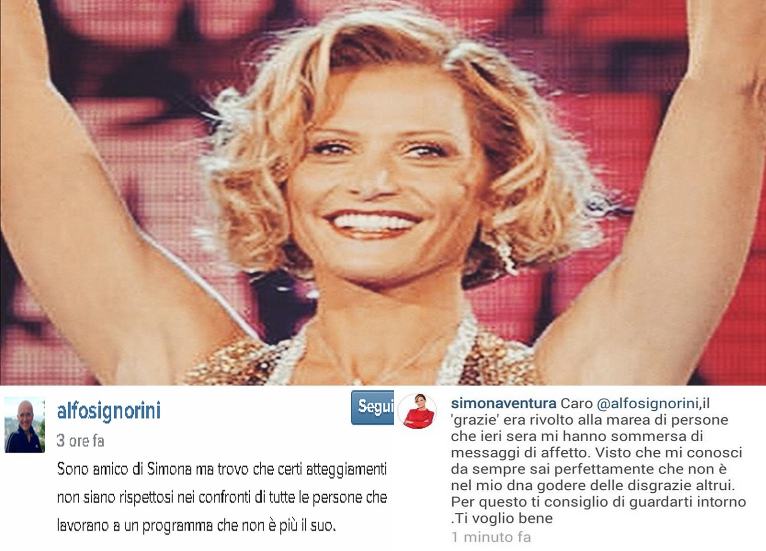 Simona Ventura e Alfonso Signorini scontro su Instagram: parte l'Isola dei Famosi social