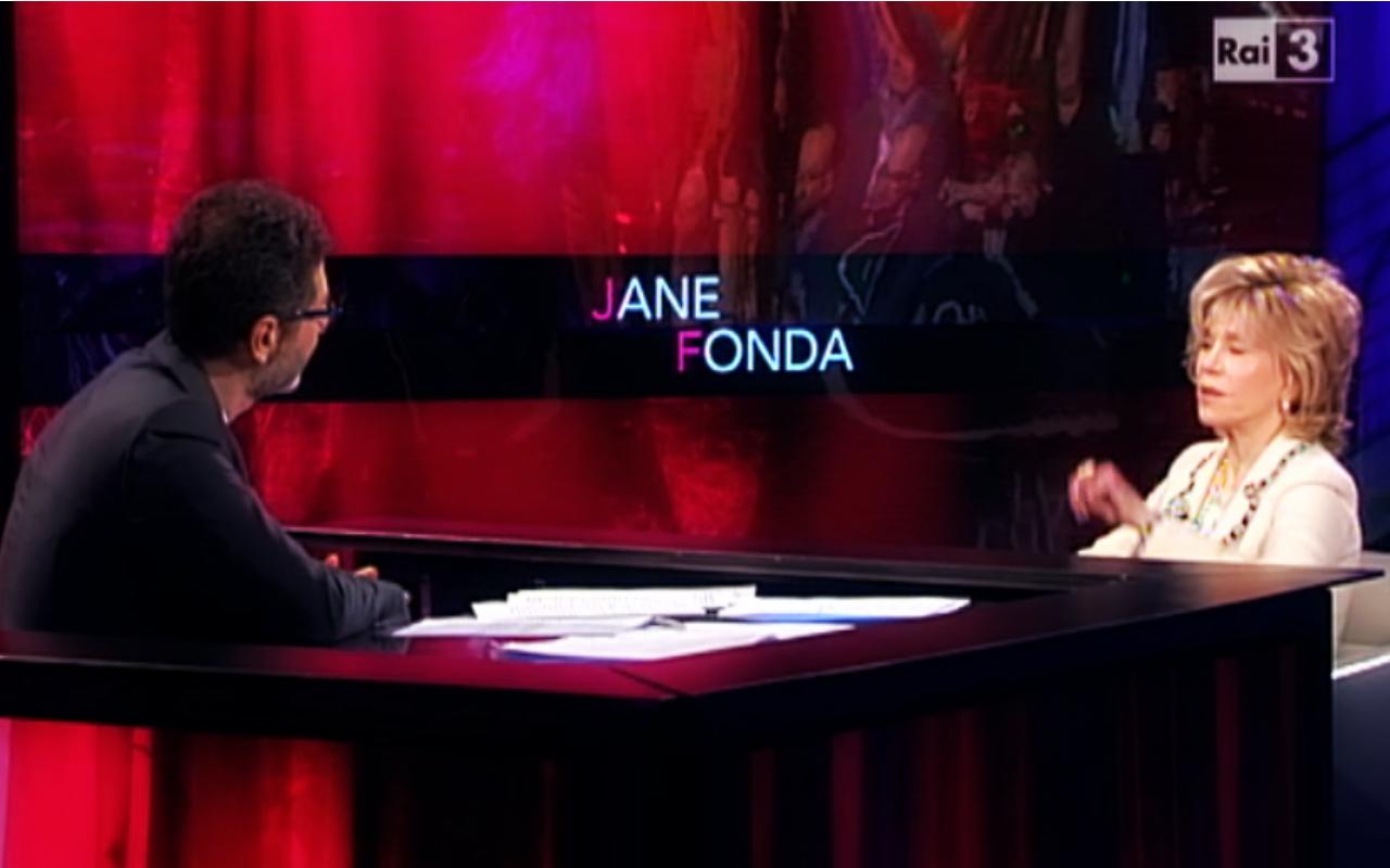 Jane Fonda a Che tempo che fa: l'attrice americana ospite di Fabio Fazio