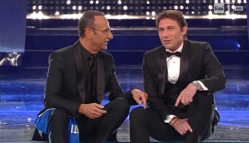 Antonio Conte all'Ariston