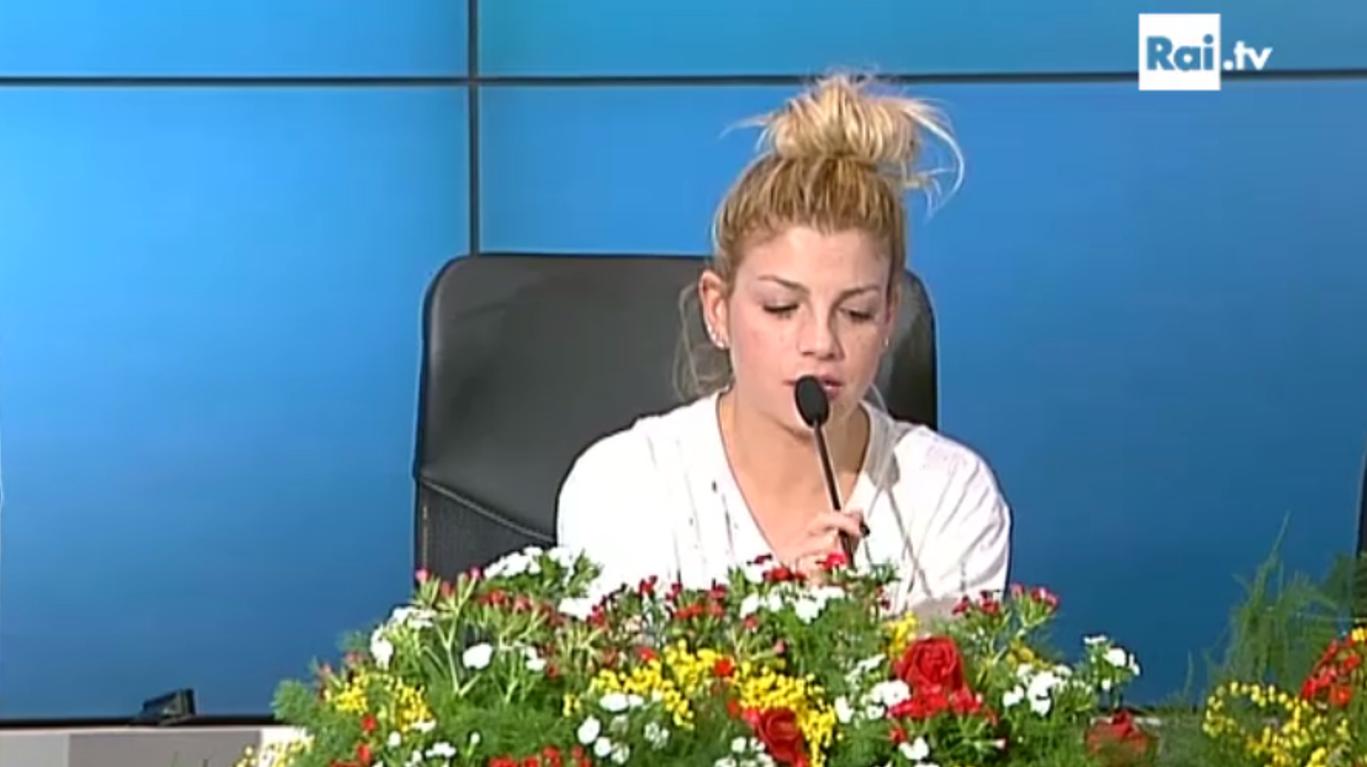 Emma in conferenza stampa