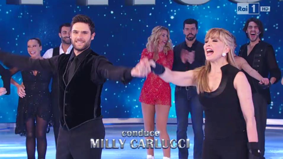Il debutto di Milly Carlucci a Notti sul ghiaccio
