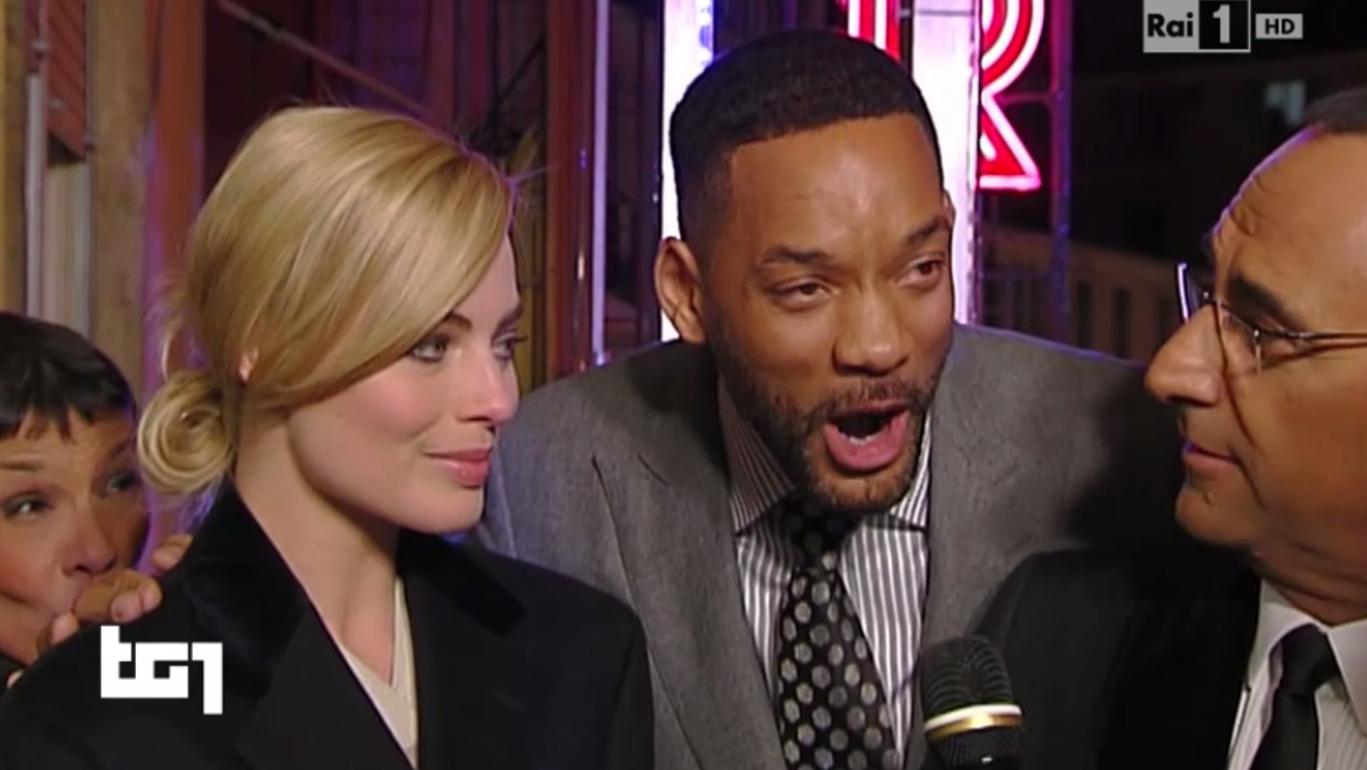 Will Smith e Margot Robbie al TG1