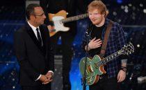 Ed Sheeran a Sanremo 2015: doppia esibizione e foto finale con Emma, Arisa e Rocío