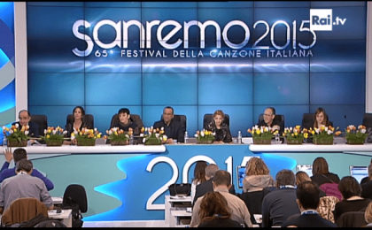 Sanremo 2015, la conferenza stampa del 9 febbraio: le dichiarazioni in diretta